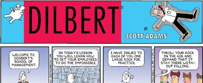 """""""Dilbert"""" comics by Scott Adams"""