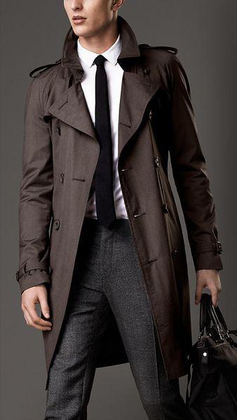 風衣界的王! Burberry, 中長版羊毛絲綢風衣, via tw.burberry.com