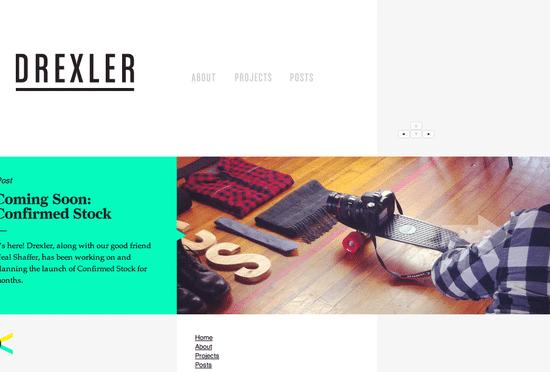 網頁設計極簡派風格:drxlr