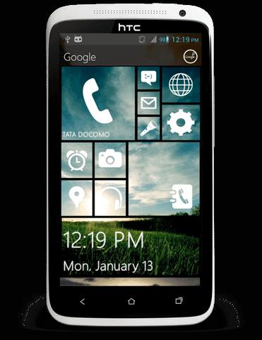 """Android手機仿WindowsPhone介面, via """"Metro 8 Launcher"""""""
