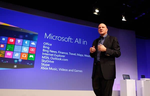 Microsoft Windows 8發表會, 前執行長Steve Ballmer主持, 2012/10/25, via microsoft.com