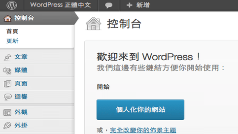 Wordpress-admin-screen