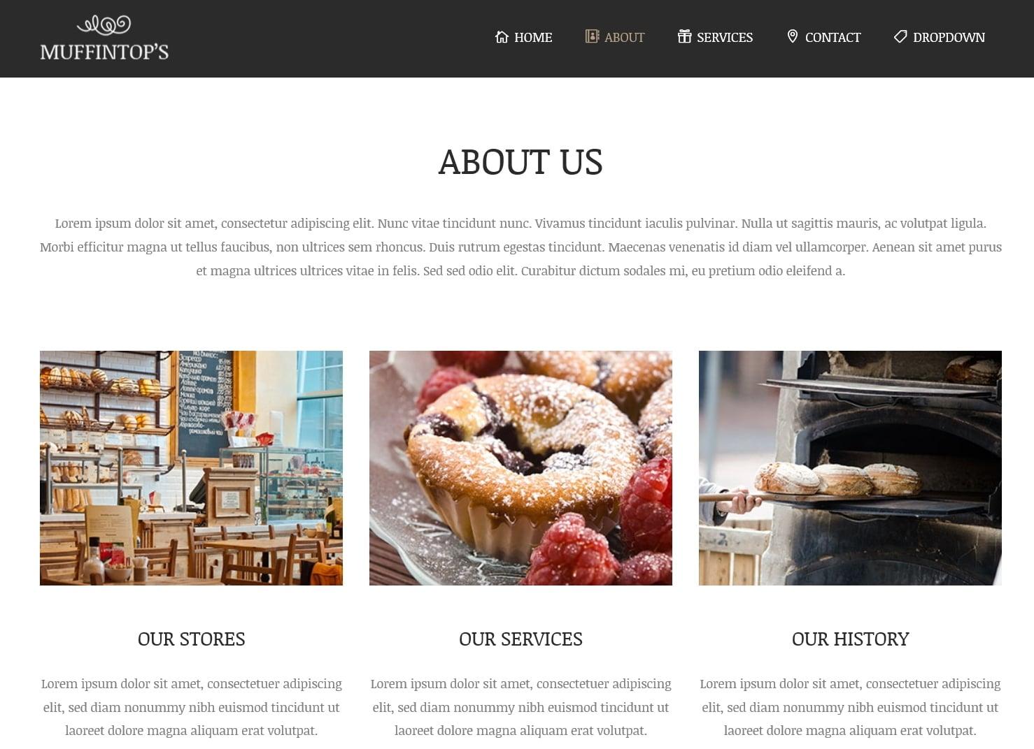 表面功夫版型參考-餐飲服務業-About Page