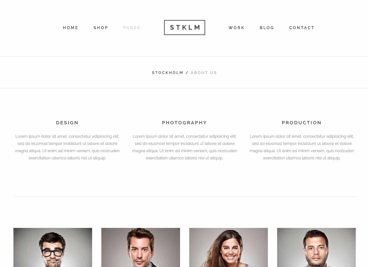 表面功夫版型參考-極簡現代風格購物網站-About Page