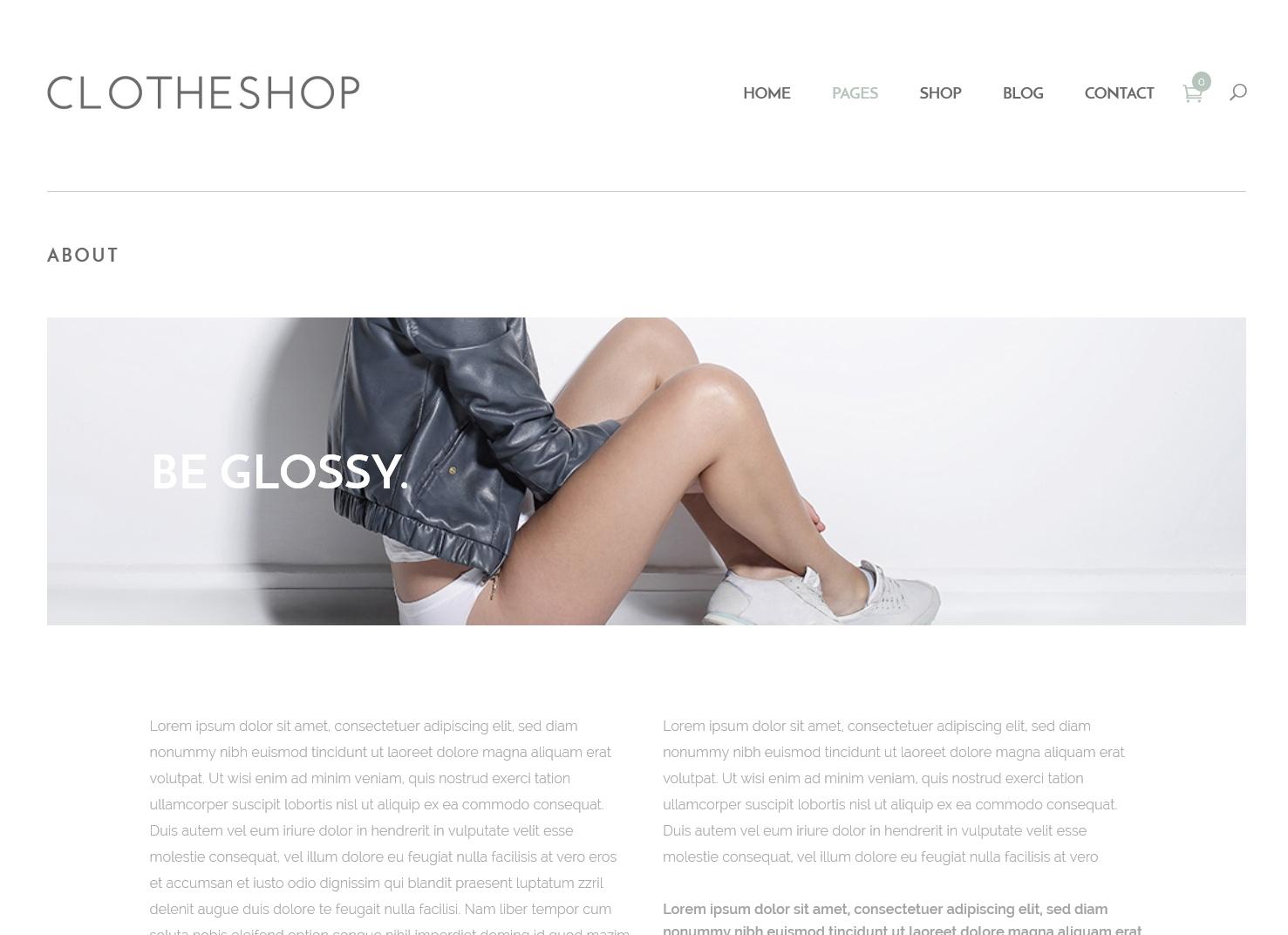 表面功夫版型參考-輕柔風格購物網站-About Page