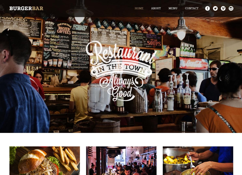 表面功夫版型參考-餐飲服務業-BurgerBarHome Page A-1