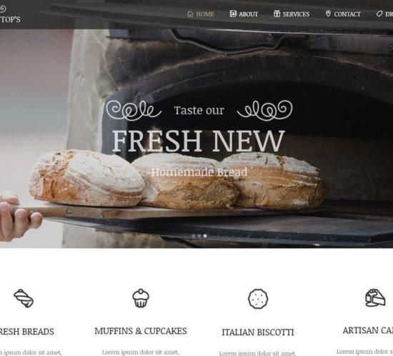 表面功夫版型參考-餐飲服務業-Home Page A-1