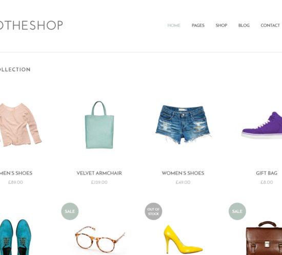 表面功夫版型參考-輕柔風格購物網站-Home Page A-1