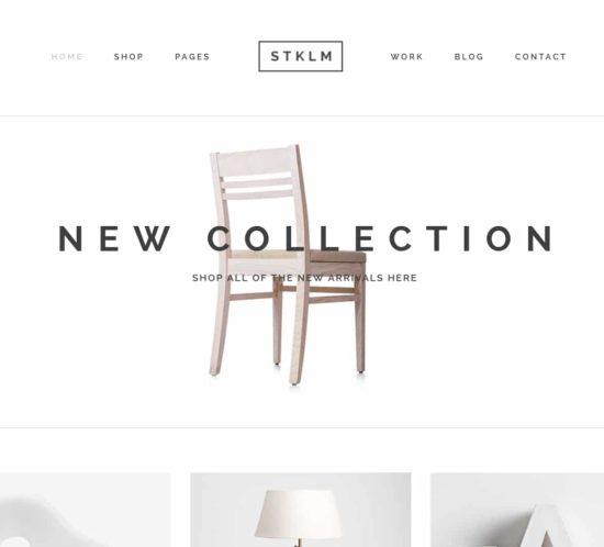表面功夫版型參考-極簡現代風格購物網站-Home Page A-1