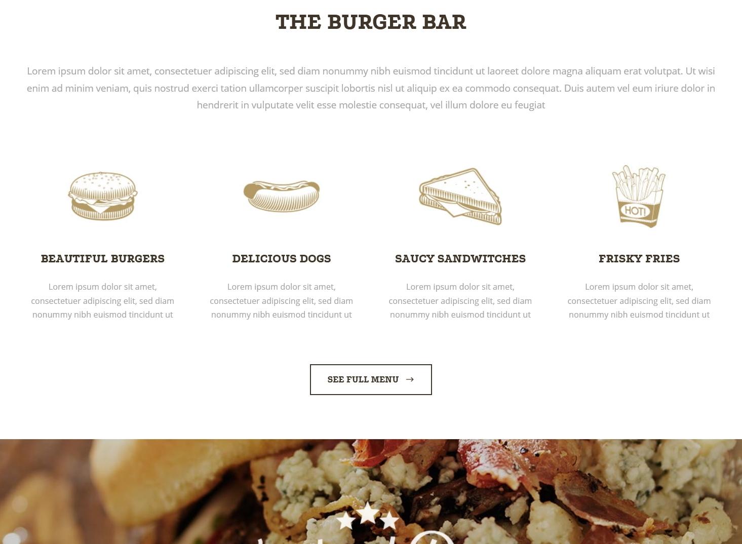表面功夫版型參考-餐飲服務業-BurgerBar-Home Page A-2