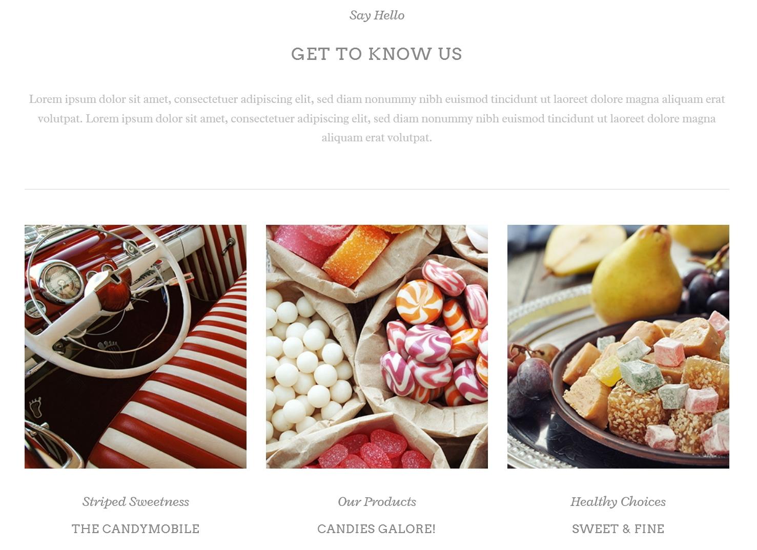 表面功夫版型參考-餐飲服務業-Lollipops-Home Page A-2