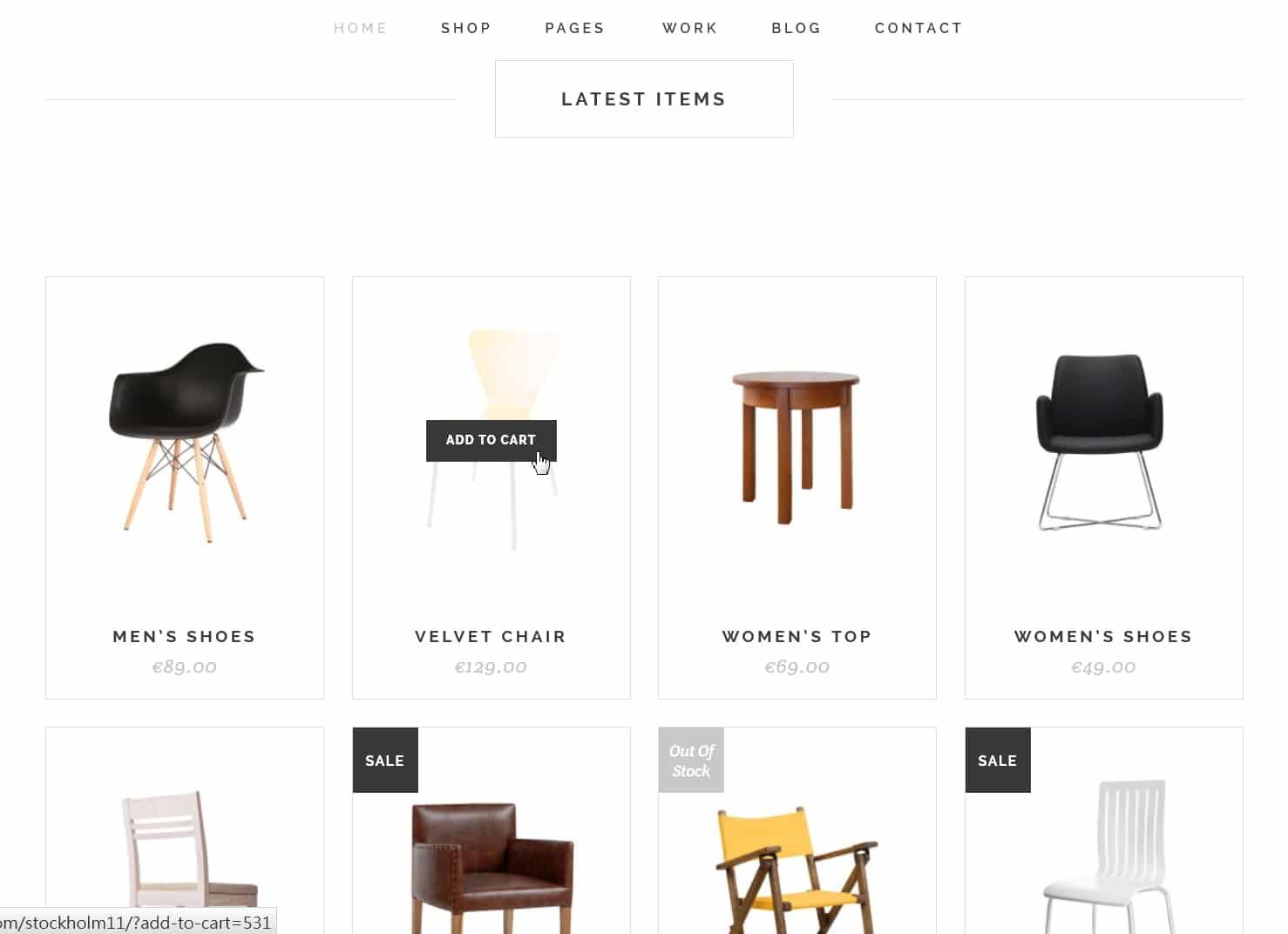 表面功夫版型參考-極簡現代風格購物網站-Home Page A-2