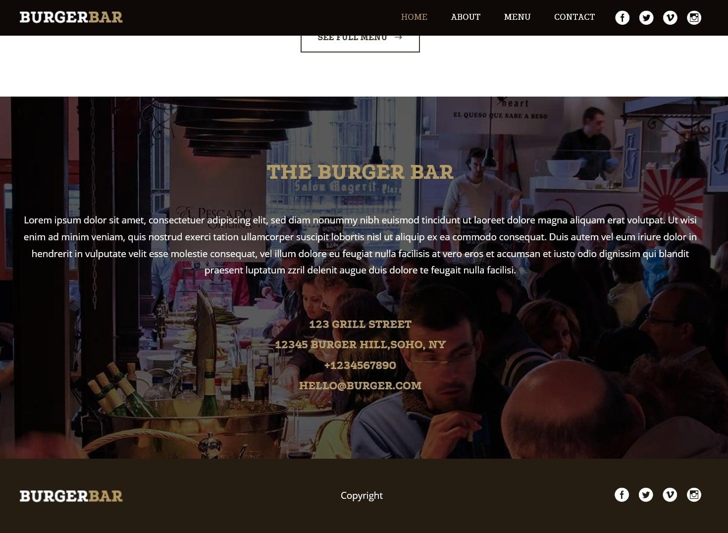 表面功夫版型參考-餐飲服務業-BurgerBar-Home Page A-3