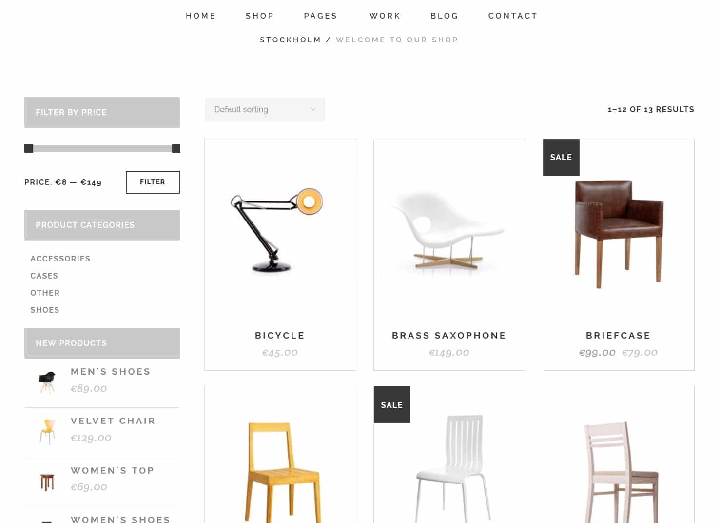 表面功夫版型參考-極簡現代風格購物網站-Shop