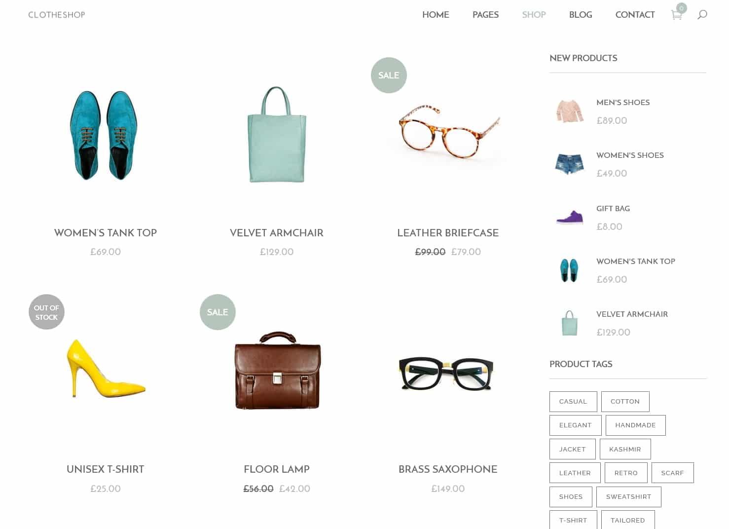 表面功夫版型參考-輕柔風格購物網站-Shop