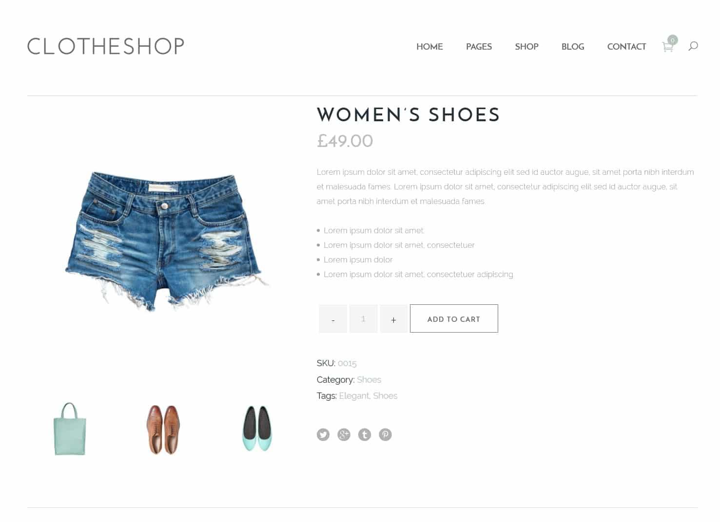 表面功夫版型參考-輕柔風格購物網站-Single Product Page