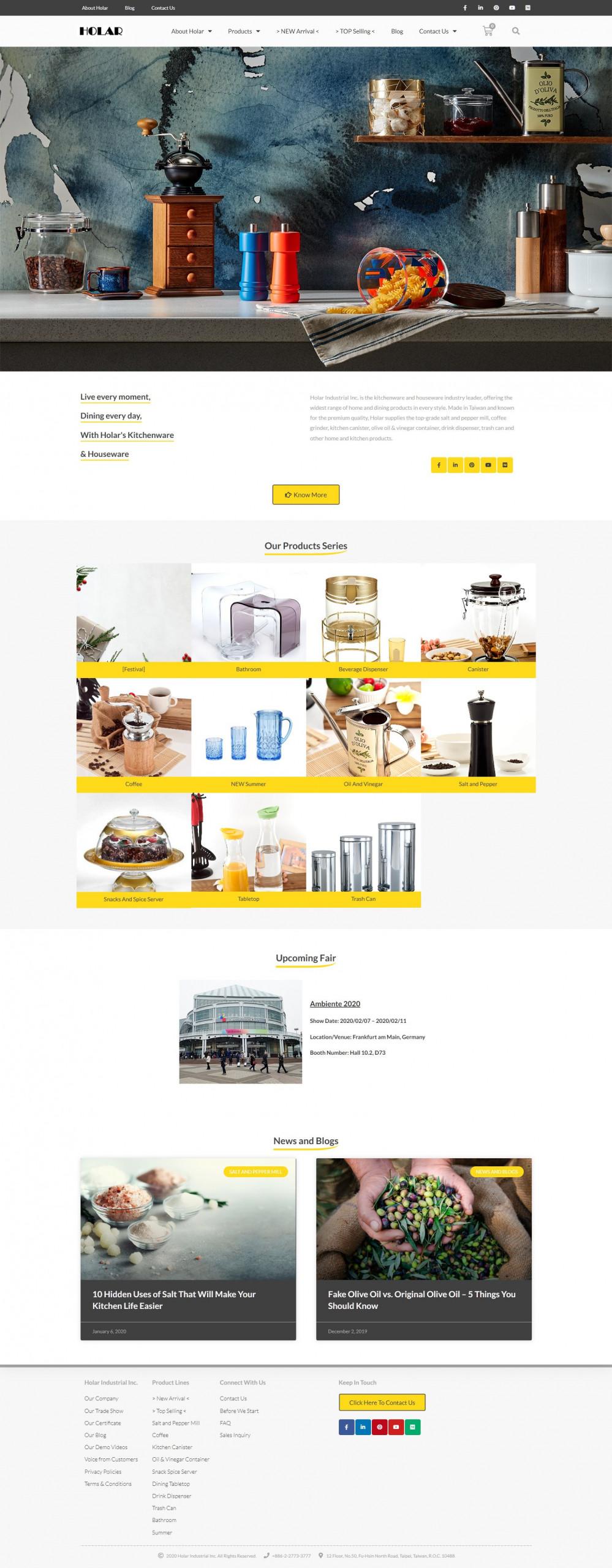 Home(Full) - Holar Taiwan Kitchenware Houseware Expert Supplier