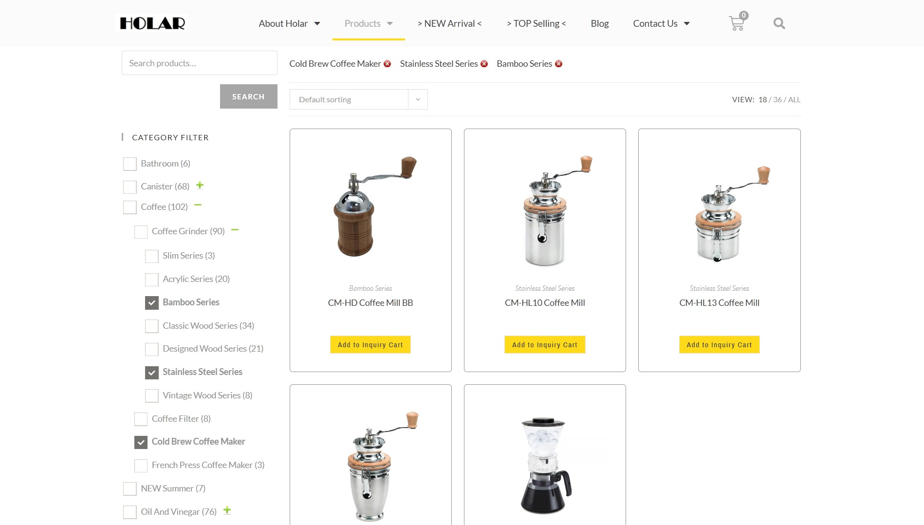 Product Check Filters - Holar Taiwan Kitchenware Houseware Expert Supplier