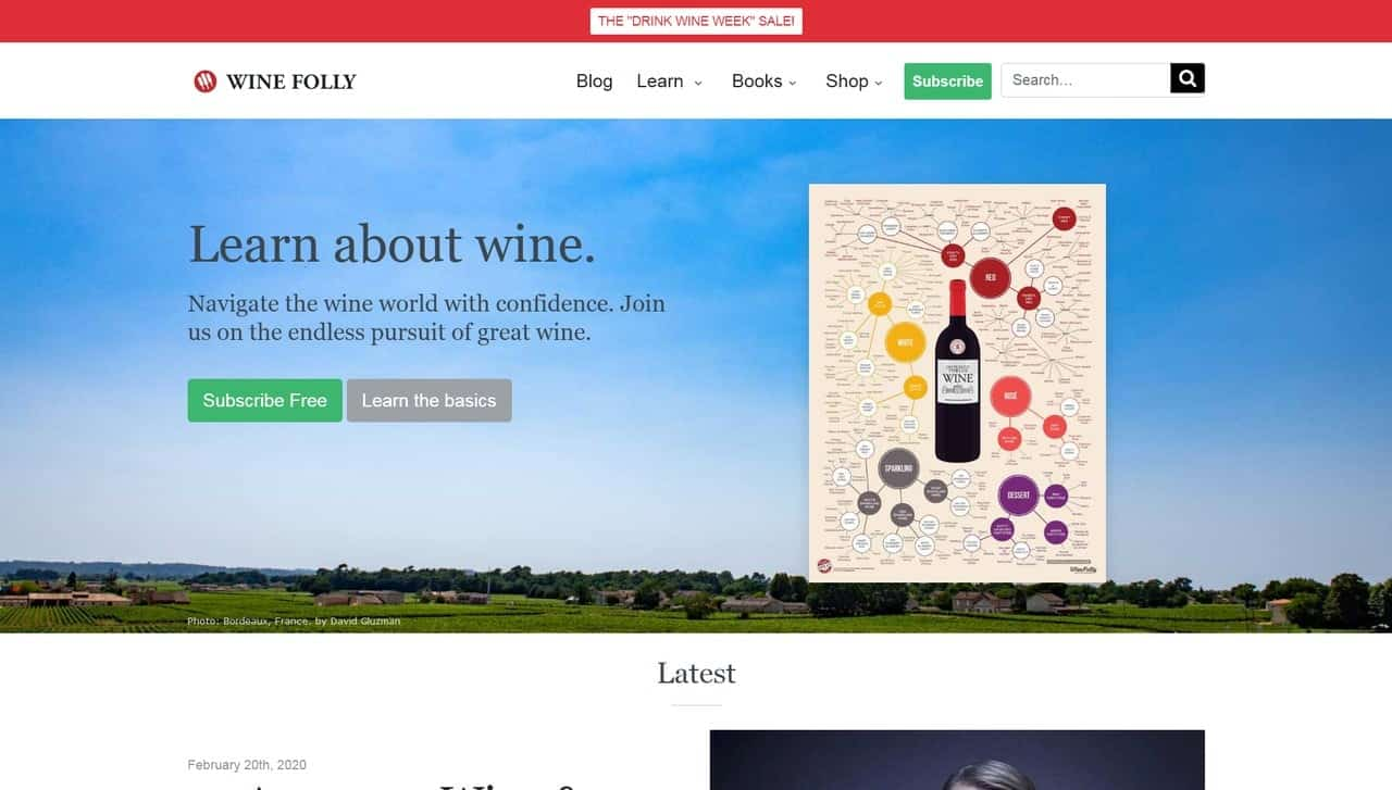 Site built with AMP - Wine Folly Learn about Wine - Desktop