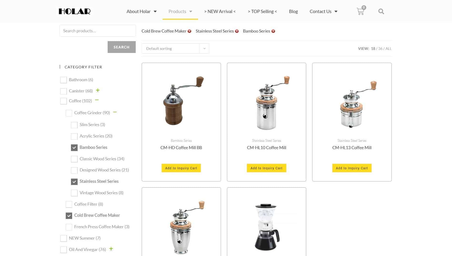 B2B Inquiry Showcase - Holar Taiwan Kitchenware Houseware Expert Supplier - Product Check Filters