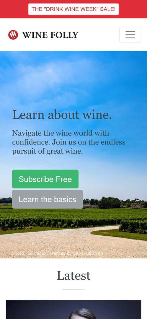 Site built with AMP - Wine Folly Learn about Wine - Mobile